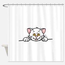 persian peeking white Shower Curtain