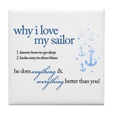 Why I Love My Sailor Tile Coaster