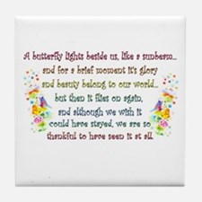 Butterfly Quote Tile Coaster