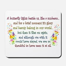 Butterfly Quote Mousepad
