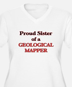 Proud Sister of a Geological Map Plus Size T-Shirt