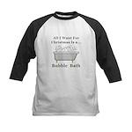 Christmas Bubble Bath Kids Baseball Jersey