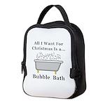 Christmas Bubble Bath Neoprene Lunch Bag