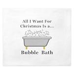 Christmas Bubble Bath King Duvet