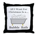 Christmas Bubble Bath Throw Pillow