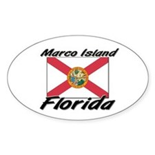 Marco Island Florida Oval Decal