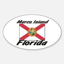 Marco Island Florida Oval Decal