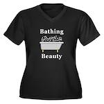 Bathing Beau Women's Plus Size V-Neck Dark T-Shirt