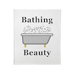Bathing Beauty Throw Blanket