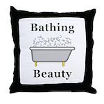 Bathing Beauty Throw Pillow