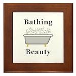 Bathing Beauty Framed Tile