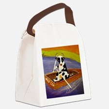 Cute Mad cow Canvas Lunch Bag