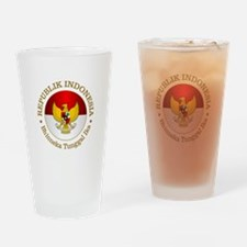 Indonesia (rd) Drinking Glass
