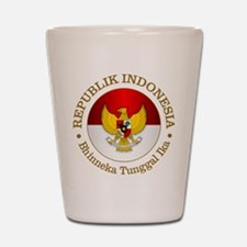 Indonesia (rd) Shot Glass