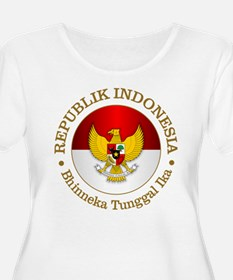 Indonesia (rd) Plus Size T-Shirt