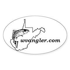 WVAngler B&W Oval Decal