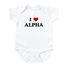 I Love ALPHA Infant Bodysuit