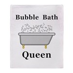Bubble Bath Queen Throw Blanket