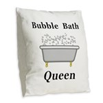 Bubble Bath Queen Burlap Throw Pillow