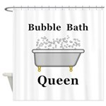 Bubble Bath Queen Shower Curtain
