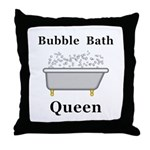 Bubble Bath Queen Throw Pillow
