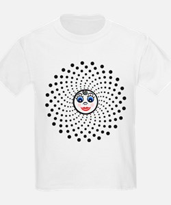 The Dotty Cutie Face Fractal T-Shirt