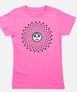 The Dotty Cutie Face Fractal Girl's Tee