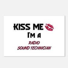 Kiss Me I'm a RADIO SOUND TECHNICIAN Postcards (Pa