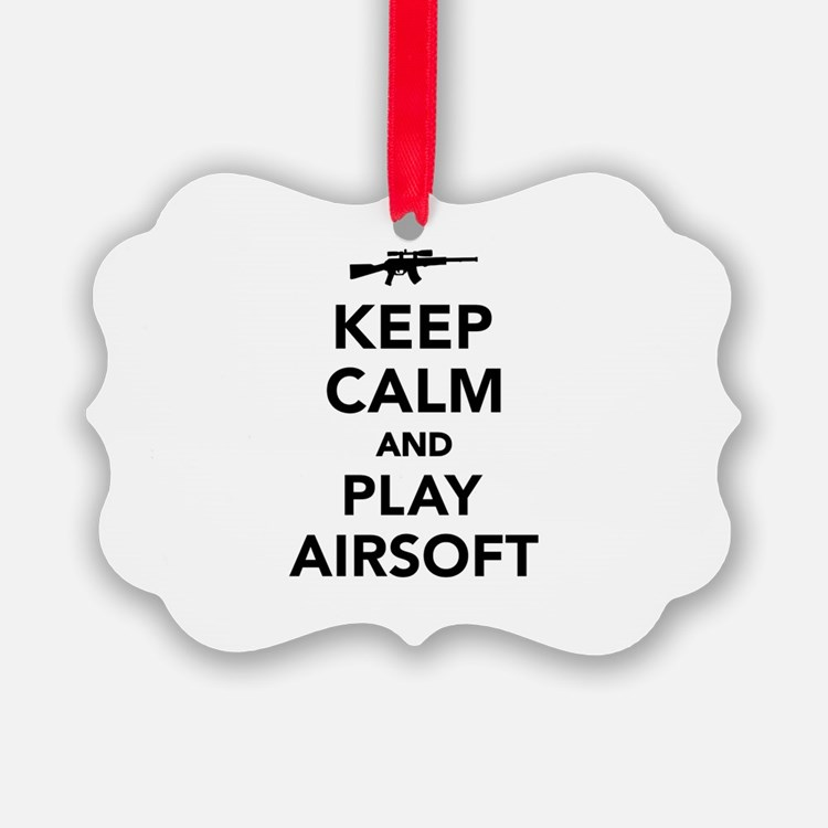 Keep calm and play Airsoft Ornament
