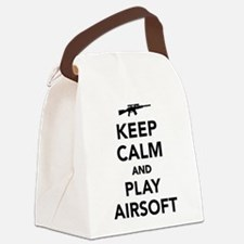 Keep calm and play Airsoft Canvas Lunch Bag