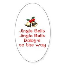 Christmas Baby Oval Decal