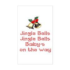 Christmas Baby Rectangle Decal
