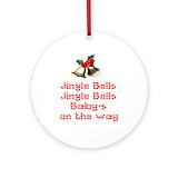 Pregnancy Round Ornaments