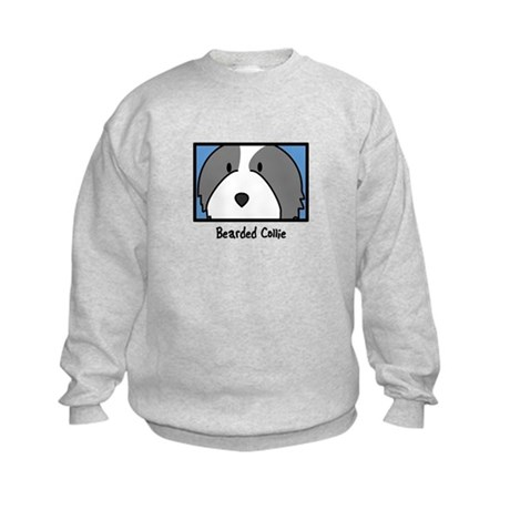 Anime Bearded Collie Kids Sweatshirt