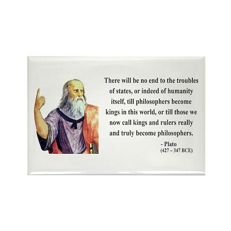 Plato 6 Rectangle Magnet