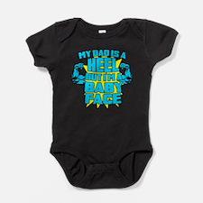 Funny Pro wrestling Baby Bodysuit