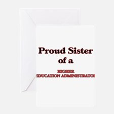 Proud Sister of a Higher Education Greeting Cards