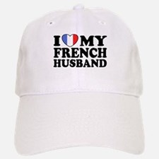 I Love My French husband Baseball Baseball Cap