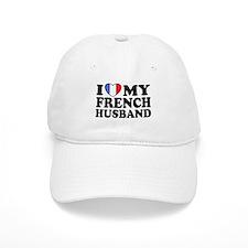 I Love My French husband Baseball Cap