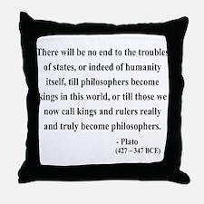 Plato 6 Throw Pillow