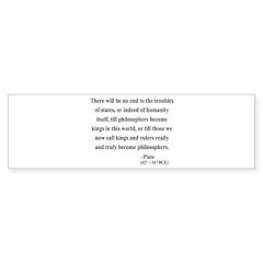 Plato 6 Bumper Sticker