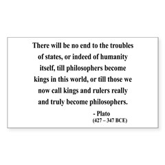 Plato 6 Rectangle Decal