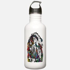 Cute Native american totem Water Bottle
