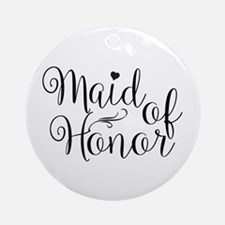 Cute Matron of honor Round Ornament