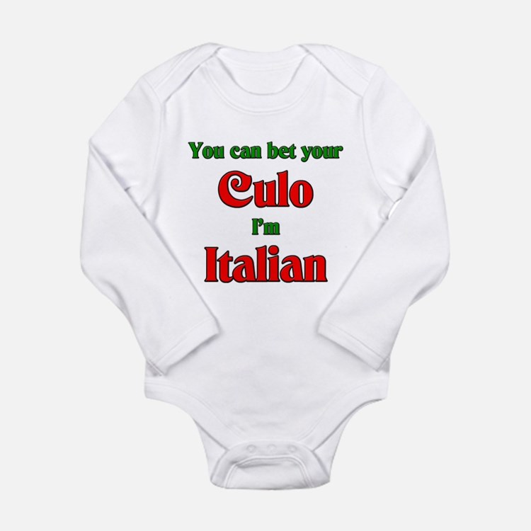 Cute Full blooded italian Long Sleeve Infant Bodysuit