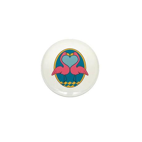 Flamingo Heart Design Mini Button (100 pack)