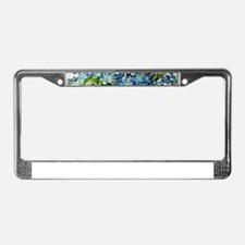 Dachshund and Forget-Me-Nots License Plate Frame