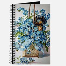 Dachshund and Forget-Me-Nots Journal