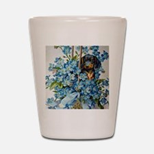 Dachshund and Forget-Me-Nots Shot Glass