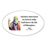 Plato 8 Oval Sticker